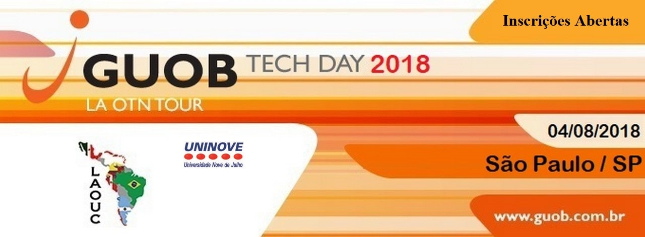 Vem aí: GUOB Tech Day 2018 / Oracle Development Community Tour 2018 Latin America